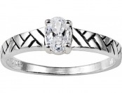 81% off Sterling Silver Cubic Zirconia Antique Ring