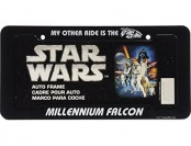 76% off Star Wars Millennium Falcon License Plate Frame