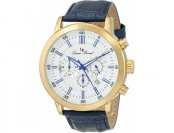 83% off Lucien Piccard Monte Viso 12011-YG-023S Leather Watch