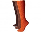 87% off Muk Luks Women's Microfiber Knee High Socks (3 Pack)