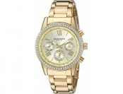 89% off Akribos XXIV Women's AK872YG Crystal Accent Watch