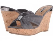 55% off GUESS Betzy (Pewter) Women's Wedge Shoes