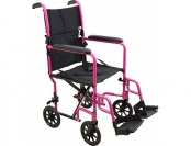 $310 off Roscoe Medical Aluminum Transport Wheelchair, Pink