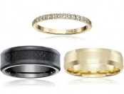 Up to 80% off Classic Wedding Bands for Women and Men, 50 items