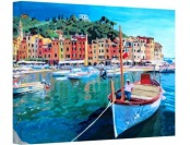 98% off Art Wall 'Tranquility of The Harbour of Portofino' Canvas