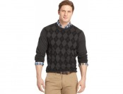 93% off Izod Big and Tall Textured Argyle Sweater