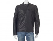 80% off Dockers Faux-Leather Classic Racer Men's Jacket