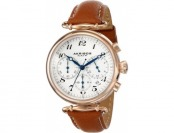 87% off Akribos XXIV Women's AK630TN Rose-Tone Leather Watch