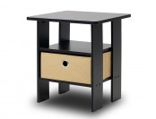 55% off Furinno 11157EX/BR End Table Night Stand with Bin Drawer