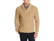 81% off Haggar Men's Allover Cable Stitch Shawl Collar Sweater