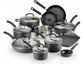 48% off T-fal E918SH Ultimate Hard Anodized Nonstick 17pc Cookware
