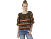 79% off Joe Boxer Junior's Bell Sleeve Peasant Top - Tribal