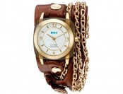 64% off La Mer Collections Women's Leather Automatic Watch