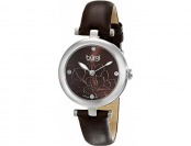 86% off Burgi Women's Sunburst Effect Embossed Flower Watch