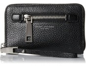 43% off Marc Jacobs Gotham Zip Phone Wristlet Clutch, Black