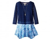 80% off Speechless Big Girls' Chiffon Dress with Longsleeve Popover