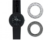 96% off Xclusive Ladies' Black Strap Watch with Interchangeable Bezels