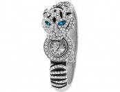 91% off American Exchange Silver Plated Tiger Bangle Watch