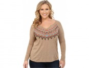 60% off Roper Plus Size 9917 Light Weight Heather Jersey Tee