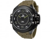 88% off Joshua & Sons Watches Men's Green Silicone IP SS Watch