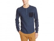 59% off Original Penguin Men's Waffle Henley Shirt with Pocket