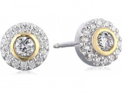 27% off 18k Gold Plated Sterling Silver Cubic Zirconia Stud Earrings
