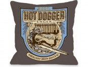 76% off Bentin Pet Decor Hot Dogger Pillow, 16 by 16-Inch