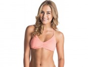 53% off Roxy Women's Tri Halter Swim Top, Sunkissed Coral