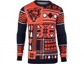 43% off Klew Men's Chicago Bears Patches Ugly Sweater