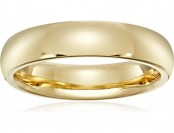 71% off Women's 18k Yellow Gold 4mm Comfort Fit Wedding Band
