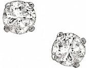 90% off 1/2 cttw 4-prong Diamond Stud Earrings 14K White Gold
