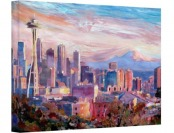 88% off Markus Bleichner 'Seattle Skyline' Gallery-Wrapped Canvas