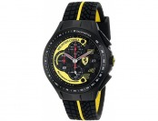 $219 off Ferrari Men's 0830078 Race Day Black and Yellow Watch