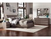 47% off Laguna Queen Bed With Headboard, Truffle