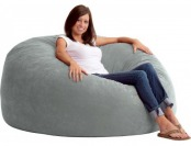 48% off King Fuf Suede Bean Bag - Light Steele