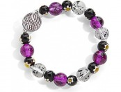 90% off Purple Artisan Glass Bead Stretch Bracelet