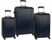 88% off Nautica Long Shore 3 Pc Hard Side Spinner Luggage Set
