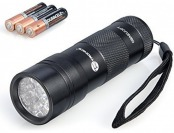 87% off TaoTronics Pet Urine and Stains Detector 12 UV LED Flashlight
