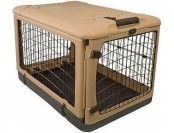 73% off Pet Gear Deluxe Steel Crate in Tan & Black