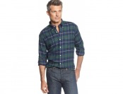 90% off John Ashford Big and Tall Long-Sleeve Plaid Flannel Shirt