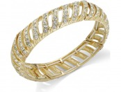 75% off Charter Club Gold-Tone and Crystal Stretch Bracelet