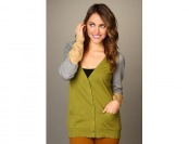 91% off Michael Stars V-Neck Color Block Cardigan Women's Sweater