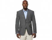 80% off Men's Savane Charcoal Plaid Sport Coat