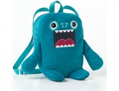 80% off Kids Blue Fuzzy Monster Backpack (Teal)
