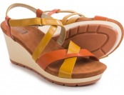 69% off Wolky Invidia Leather Wedge Sandals For Women