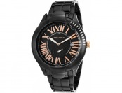 94% off Ted Lapidus Women's Black Ion Plated Stainless Steel Watch