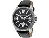 92% off Ted Lapidus Men's Black Textured Genuine Leather Watch