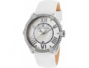 94% off Ted Lapidus Women's White Leather Mother of Pearl Dial Watch