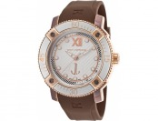 $440 off Ted Lapidus Men's Brown Rubber Silver-Tone Dial Watch