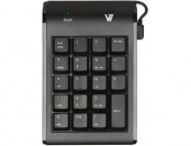 55% off V7 Space Saving Ergonomic 19 Key USB Numeric Keypad